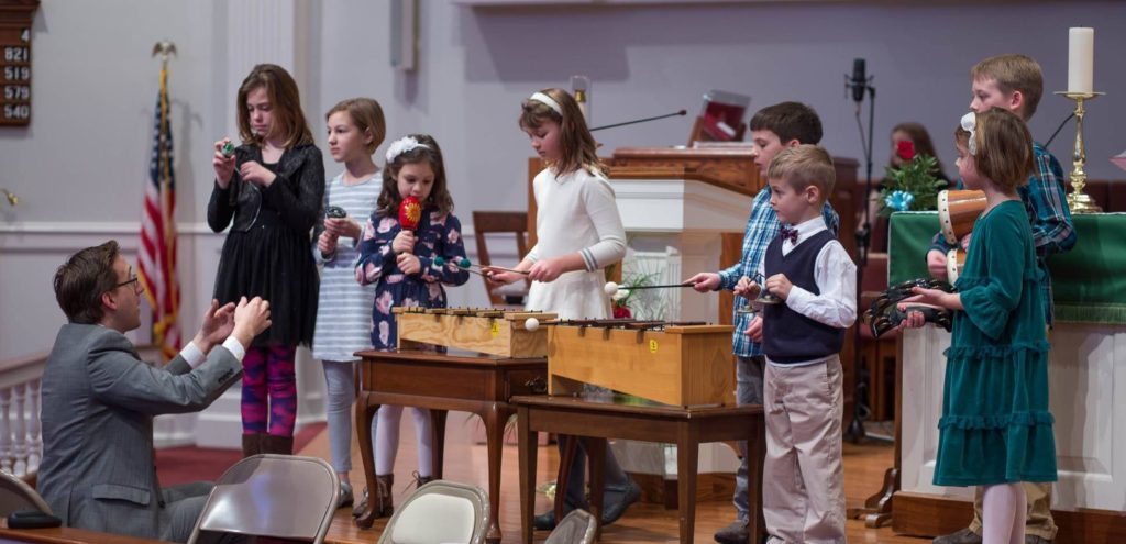 Children's Jubilate Choir offering special music during worship